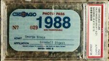 1988 Chicago Cubs PSA Pass Ticket Ryne Sandberg #100 HR /Greg Maddux Win Ex