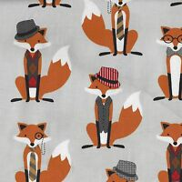 """(€ 16,00/m) Patchworkstoff -  """" Fox and the Houndstooth""""  - 25 x 110cm"""
