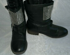 ATMOSPHERE WOMENS BLACK PULL ON SYNTHETIC ANKLE  BOOTS SIZE:5/38(WB2075)