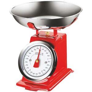 Bilancia Meccanica Analogica da Cucina in Metallo Atlas Vintage 5Kg Rosso