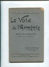 LA VOIX DE L ARMENIE 1918 The Voice of Armenia WW I Armenians