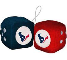 Houston Texans Fuzzy Dice NFL Football Team Logo Plush Car Truck Auto
