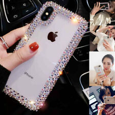 Claro transparente Bling Diamante Teléfono Estuche Cubierta para iPhone XS Max XR 8 7 6S X