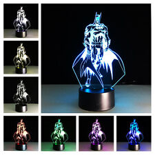 Batman The Dark Knight 3D illusion Night Light 7 Color Changing LED Lamp Gift