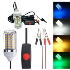 New listing 12V 15W 2835SMD LED Green Underwater Submersible Night Fishing Light Collecting