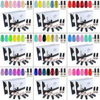 6pcs Gel Polish + Base Top Nail Manicure Kit Elite99 Soak Off Gift Set US STOCK