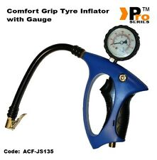 Comfort Grip  Tyre Inflator- 0-10 Bar 150 PSI- Glow in the Dark Gauge