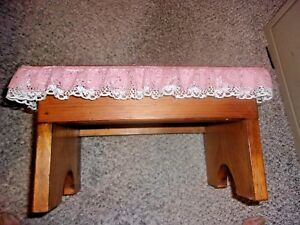 """Hand Made Wood Plant Stand/Bench BROWN 13"""" LONG X 9"""" Wide x 7"""" TALL"""
