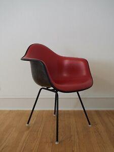Eames Molded Fiberglass Armchair, 4-Leg Base, Upholstered