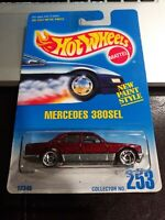 Hot Wheels Mercedes 380SEL #253 1991 RED