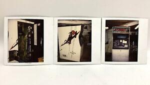 1970 SEGA Jet Rocket ARCADE VIDEO GAME Polaroid Photo Set of 3 Vintage