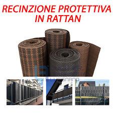 TELO OMBREGGIANTE IN PVC RATTAN RECINZIONE FRANGIVISTA PVC PER BALCONI TERRAZZE