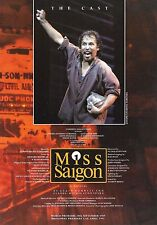 "Steven Pasquale ""MISS SAIGON"" Boublil and Schönberg 1997 Souvenir Program Insert"