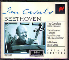 CASALS & SERKIN: BEETHOVEN 5 Cello Sonata variation 2cd Pablo Rudolf Violoncelle Sonate