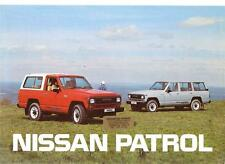 NISSAN PATROL HARDTOP AND ESTATE SALES BROCHURE 1986 1987