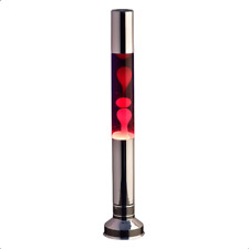 Stylish Flat Top Tall Lava Lamp Provide A Warm Glow In The Bedrooms -Silver 57cm
