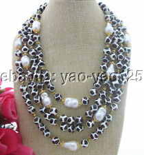 S031106 4Strds 22MM Bead-Nucleated Pearl&Agate Necklace