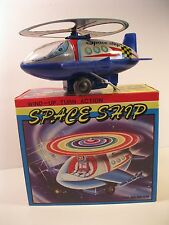 SPACE SHIP WIND-UP 1970's TURN ACTION MINT IN ORIGINAL BOX VINTAGE KRON KOREA