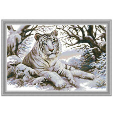 Tiger DIY Handmade Needlework Counted 14CT Printed Cross Stitch Embroidery Kit