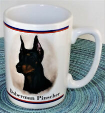 Doberman Pinscher Watch Dog Coffee Mug Tea Cup R Maystead Portraits by Papel
