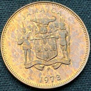 Jamaica 1973    1 Cent PROOF     Bronze Coin     #K630