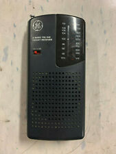 GE 7-2584A 2 Band FM/AM Pocket Receiver Radio