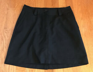 Nike Fit Dry Women's Golf Tech Short Skort Performance 4 solid black