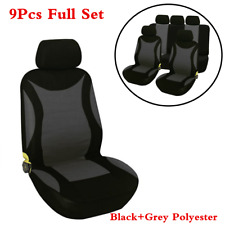 Polyester Auto Car 5-Seat Styling Cover Cushions 9Pcs/Set Universal Black+Grey (Fits: 2010 Charger)