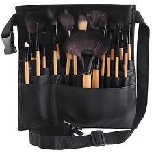 UK Professional Cosmetic Makeup Brush Apron Bag Artist Belt Strap Holder Black