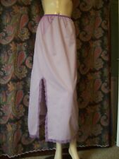 Vintage Wilmot Purple Nylon Taffeta Formal Length Half Slip Lingerie M