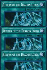 3 X RETURN OF THE DRAGON LORDS -(SR02-EN025)- Super Rare 1st Edition - YuGiOh