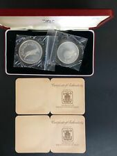 New ListingOman Sultanate Conservation Silver Proof 2 Coin Set The Royal Mint m2