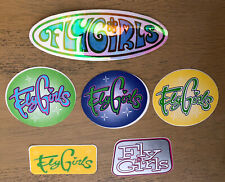 Vintage Fly Girls Black Flys Stickers Decal Lot Of 6 Skateboard Surf