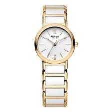 Analoge Quarz - (Batterie) Armbanduhren mit Keramik-Armband für Damen