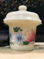 "Vintage FRENCH SIMPLEX Hand Painted POT FLORAL""FOIE GRAS"" TERRINE Tureen MINT"