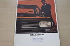 181965) Opel Rekord Prospekt 01/1966