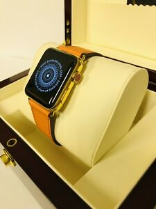24ct Gold Plated 42MM Apple Watch Series 3  + Presentation Box - GPS + Cellular