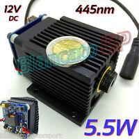 MODULO LASER 445nm BLU 5.5W 5500mW INCISIONE diode module CW engraving 6W focus