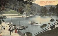 Chester West Virginia c1910 Postcard Boats Lake Rock Springs Amusement Park