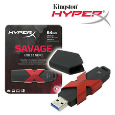 Kingston HXS3 64GB HyperX SAVAGE USB 3.1 350MB/s R, 180MB/s W - Tracking include