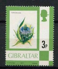 Gibraltar 1977-82 SG#378, 3p Flower Definitive MNH #A77679
