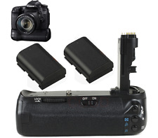 Battery Grip Pack fr Canon EOS 70D 80D DSLR Camera + 2 x LP-E6 Battery as BG-E14
