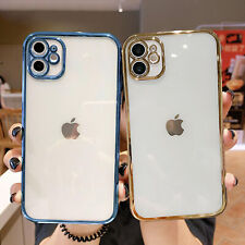 For iPhone 12 Pro Max 11 XS XR 8 7 Plus Clear Shockproof TPU Rubber Case Cover