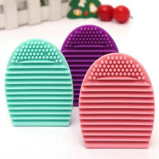 Egg Cleaning Glove MakeUp Washing Brush Scrubber Board Cosmetic Brush Cleaner Y4