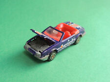Majorette N°227 Ford Mustang convertible cabriolet 1/59 vintage blue diecast car