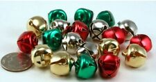 Lot of 200~ 3/8 Inch or 9.5 mm Silver Gold Red Green Mix Craft Jingle Bells
