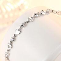 Bracciale Braccialetto Donna Gioielli S925 Argento sterling Diamante bianco