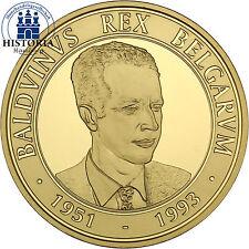 Polierte Platte Goldmünzen nach Euro-Einführung Münzen aus Belgien