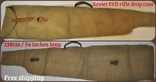 USSR Russian SVD Drop Case Cover Bag for Dragunov Rifle Light Green Canvas 49in