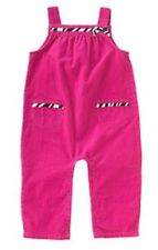 NWT Gymboree Wild One  Bright Pink Soft Corduroy Overalls Size 3T